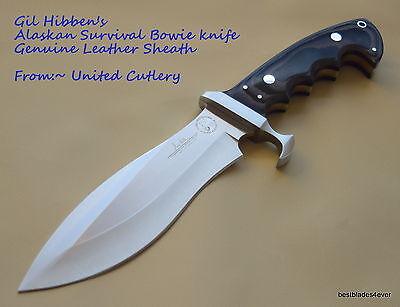 UNITED CUTLERY GIL HIBBEN ALASKAN SURVIVAL BOWIE KNIFE WITH LEATHER (Gil Hibben Alaskan Survival Knife With Sheath)
