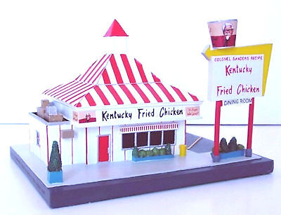 Kentucky Fried Chicken Restaurant Kfc 50S Style Fast Food Diner Lefton 1995 Mib