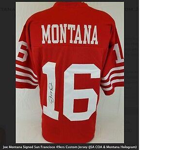 287844ffbd4 Joe Montana Signed San Francisco 49ers Custom Jersey (JSA COA   Hologram)  Auto