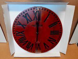 Big Ben Westclox 12 Solid Wood Wall Clock Quartz Analog Roman Numerals NIB 78V