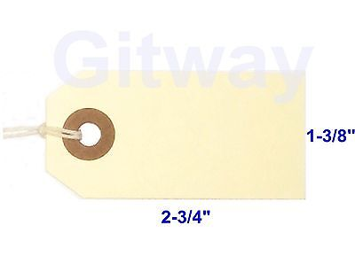 1000- 2 34 X 1 38 Size 1 Manila Inventory Shipping Hang Tags With String
