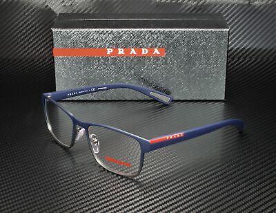 PRADA LINEA ROSSA PS 50GV U6T1O1 Blue Gradient Demo Lens 55 mm Men's Eyeglasses