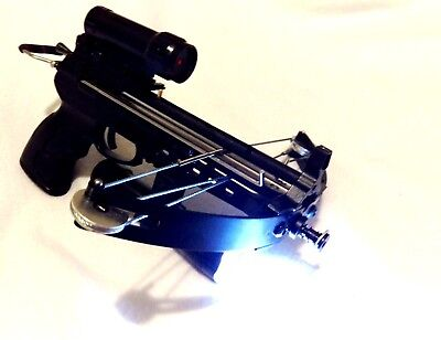 60 lbs MANTIS pistol crossbow with rechargeable tactical light and laser sight