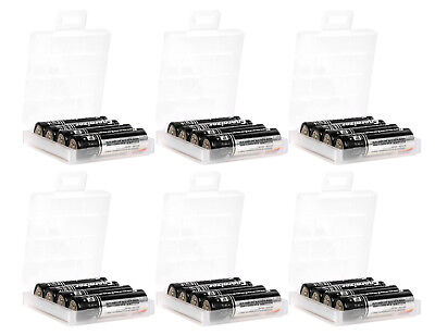 6 Pcs AA AAA Cell Battery Storage Case Holder Organizer Box with Charge Reminder Consumer Electronics