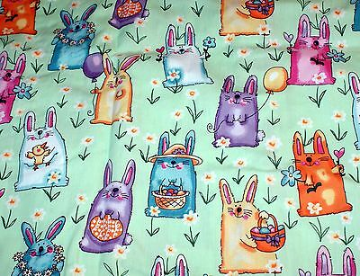 NEW Scrubs ~ Print Scrub Jacket ~ 4X ~ Easter Bunny