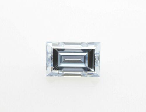 Rare Blue Diamond - 0.29ct Natural Loose Fancy Grayish Blue GIA Emerald Cut VVS1