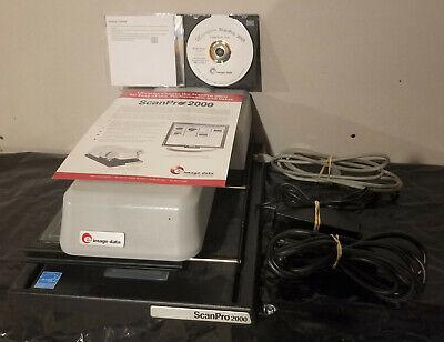 E-imagedata Scanpro 2000 Microfilm Microfiche Scanner Mspgdx-sp7 W Software Cd