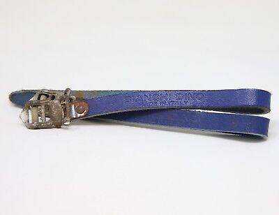ERREBI Brevettato Deluxe Leather Toe Straps White Blue NOS L/'Eroica Paletti