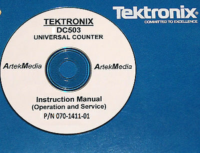 Tek Tektronix Dc503 Counter Operating Service Schemtics Manual