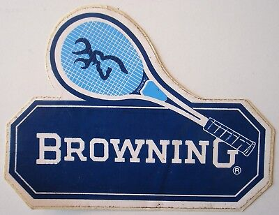 Autocollant / sticker Browning. - Tennis, raquette.
