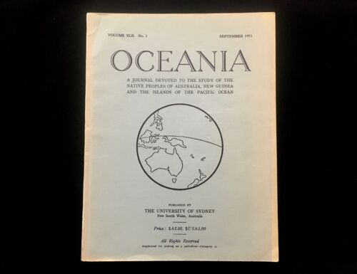 OCEANIA JOURNAL SEPTEMBER 1971 WAR AND PEACE AMONG THE MARINGS OF NEW GUINEA