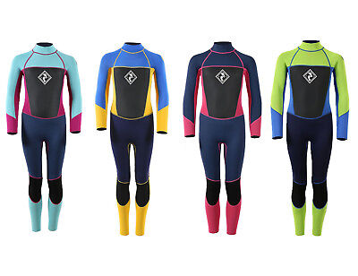 Flexible Kids Wetsuit (Two Bare Feet Junior Squadron Full Length Wetsuit Warm Flexible Colour Choice )