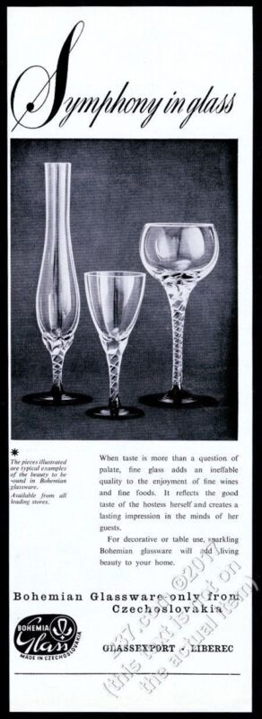 1961 Bohemia Glass Bohemian glassware photo vintage print ad