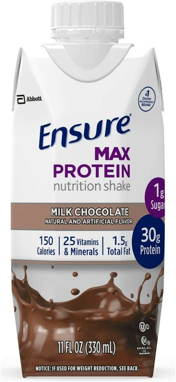 Ensure Max Protein Nutrition Shake With 30g Of Protein, Milk Chocolate, 12 Pack - $23.99