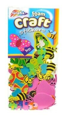 Bug Foam Shape (50 Bug Themed Foam Stickers for Kids Crafts | Childrens Craft Foam )