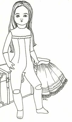 """sewing pattern to make  16"""" BRU body for your porcelain  doll"""