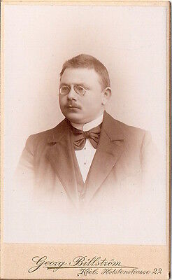 CDV photo Studentika Burschenschaft mit Widmung - Kiel 1896