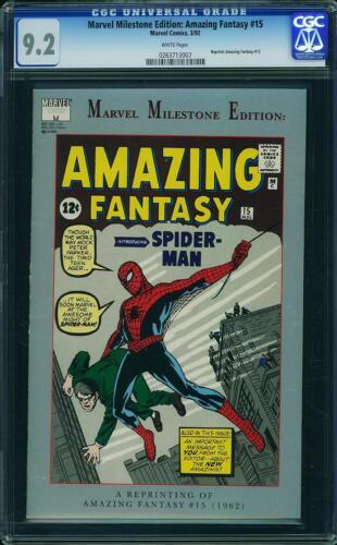MARVEL MILESTONE EDITION: AMAZING FANTASY #15 CGC 9.2 1st Spider-Man reprint!