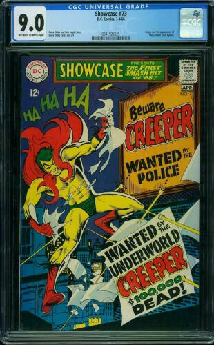 SHOWCASE 73 CGC 9.0 1st Beware of the Creeper Steve Ditko Batman Villain 1968