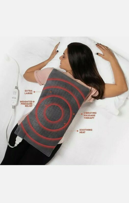 Calming Heat Massaging Weighted Heating Pad by Sharper Image- Weighted Electric