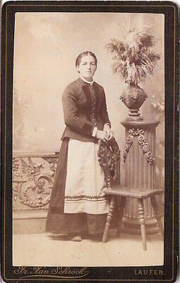 CDV Foto Feine Dame - Laufen 1890er