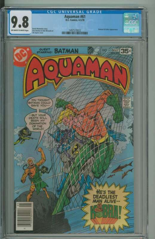 AQUAMAN #61 CGC 9.8 OW/WH PAGES