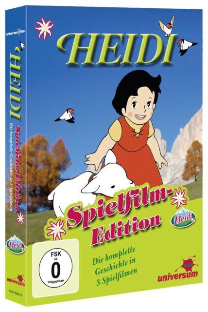 HEIDI Spielfilme Box IN DEN BERGEN geht nach Frankfurt .. 3 DVD TV-Serie Box Neu