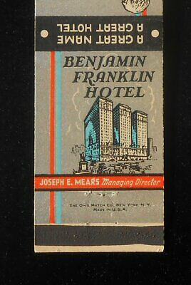1940s Benjamin Franklin Hotel A Great Name Joseph E. Mears Philadelphia PA (Pennsylvania Capital Name)