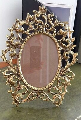 New Vintage Victorian Rococo style Solid Bronze Brass metal Photo Picture Frame