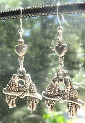 買 Olde Castle Arts ~ Lovebird & Heart Double Charm Drop Earrings - love bird