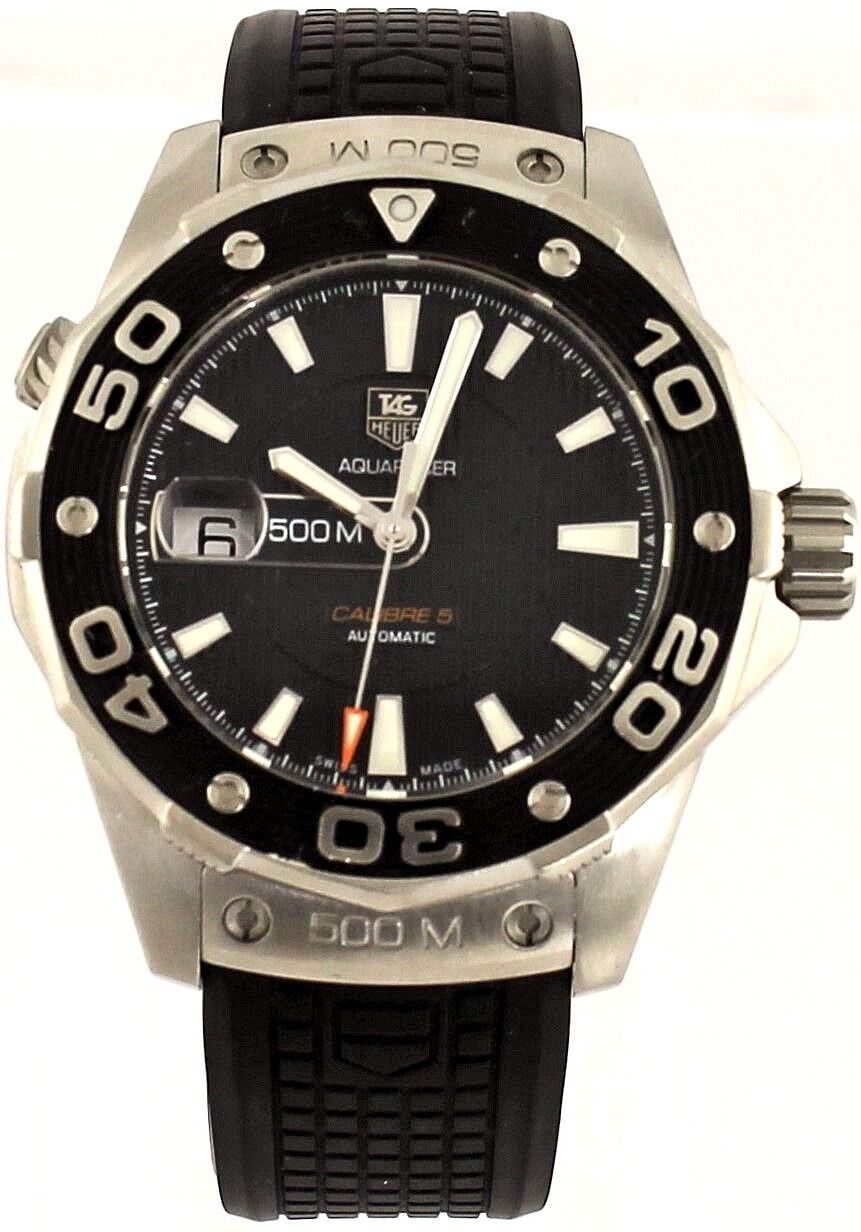 Authentic tag heuer aquaracer waj2110 ft6015 automatic 500m divers steel watch for Tag heuer divers watch