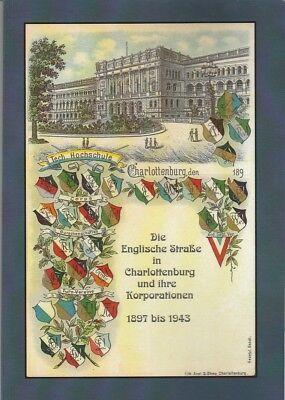 Studentika Die Englische Straße in Berlin und ihre Korporationen 1897 - 1943