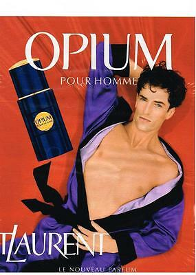 PUBLICITE ADVERTISING   1995    YVES SAINT LAURENT  BOUTIQUE  PARFUM  OPIUM (Boutique Yves Saint Laurent)