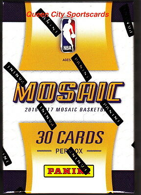 2015/16 2016/17 Panini Mosaic Prizm Basketball Factory Sealed Hobby Box