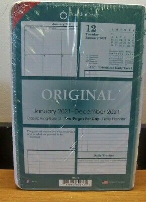New Franklincovey Original Classic Ring Two Pages Per Day 2021 Daily Planner