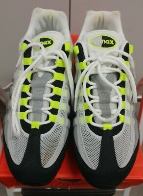 3800be1db7 DS NIB Nike Air Max 95 OG Grey Neon Size 9.5 2008 release 609048-072