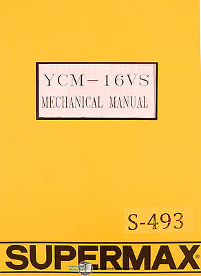 Supermax Ycm-16vs Yeong Chin Milling Operations Parts And Electric Manual