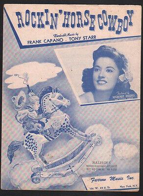 Rockin Horse Cowboy 1947 Marjorie Hughes Sheet Music