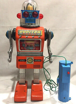Yonezawa Jupiter Robot battery operated Japanese tin toy 1960
