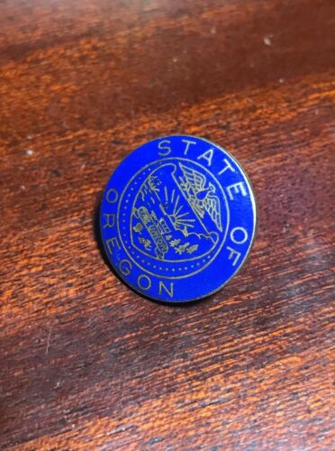 Oregon State Seal Cloisonne Logo Lapel Pin Free Shipping