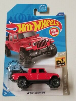 2020 Hot Wheels Jeep Gladiator Red * J Case * NIP 1:64 Scale