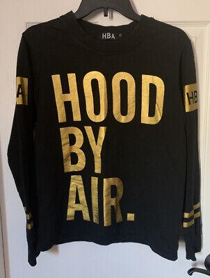 HBA Hood By Air Long Sleeve Crew Neck Pull Over Shirt Sz M