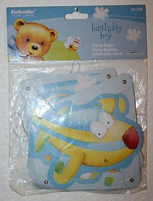 RIETHMÜLLER birthday boy Party-Kette Party Banner Schriftzug Geburtstag Jungen (Geburtstag Banner Boy)