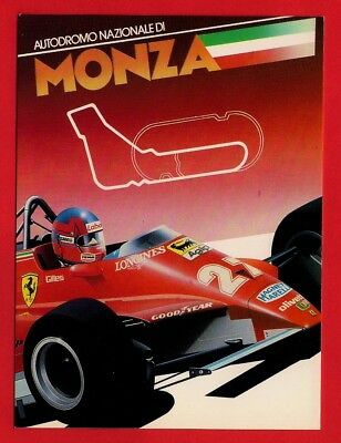Athena Racing Car Postcard ~ Monza: Autodroma Nazionale - Villeneuve: Ferrari 27
