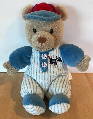 Blue Teddy Bear Rattle - Carter's Teddy Bear Little Rookie Rattle Plush Blue White Red Baseball 9