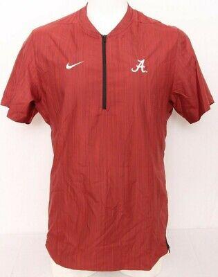 NEW Alabama Crimson Roll Tide Nike 1/4 Zip Lockdown Dri-Fit SS Hot Jacket Mens L