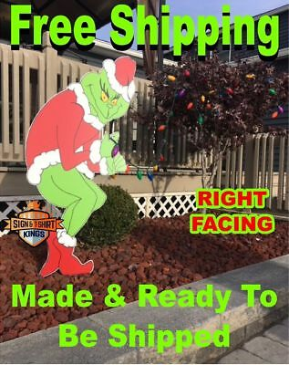 GRINCH Poaching CHRISTMAS Lights Yard Art Truthful Coating Grinch Untie SHIPPING