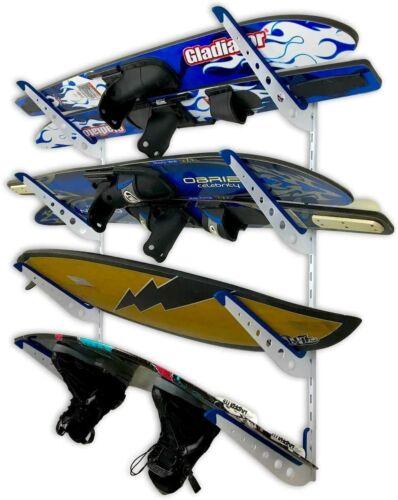 StoreYourBoard Adjustable Water Ski Wall Storage Rack, 4 Ski Sets Home Organizer