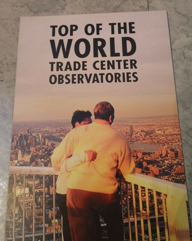 Pre 9/11 World Trade Center Top Of The World Observatories Brochure