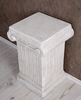 Säule Antike Podest Blumensäule Dekosäule Weiss Postument